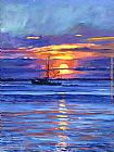 David Lloyd Glover Salmon Trawler at Sunrise painting